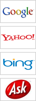 Google, Yahoo, Bing Search Engines